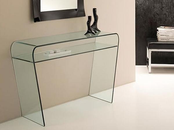 Saphiria consolle di elegante vetro consolle tavoli for Consolle di cristallo