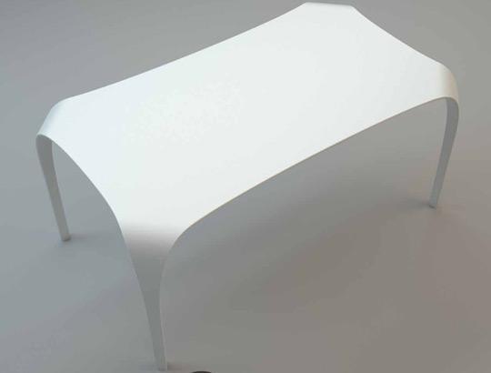 Il tavolo unico di riflessi in tecnoril non imitabile for Tavolo consolle riflessi