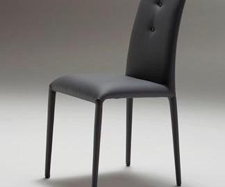 sedia Riflessi modello Sonia pelle colore antracite