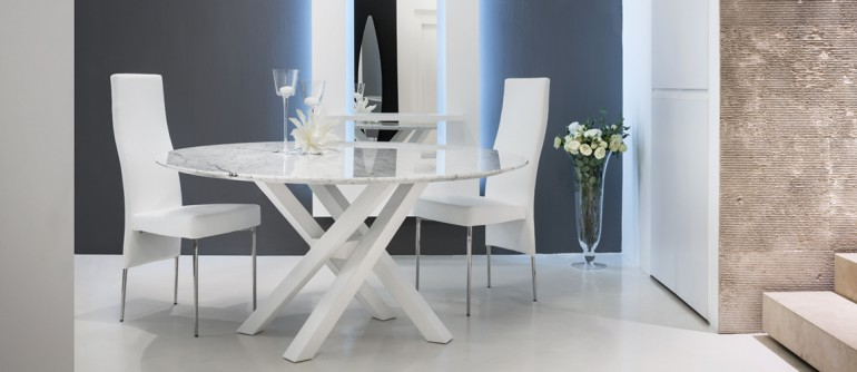 tavolo shangai con piano in marmo di carrara