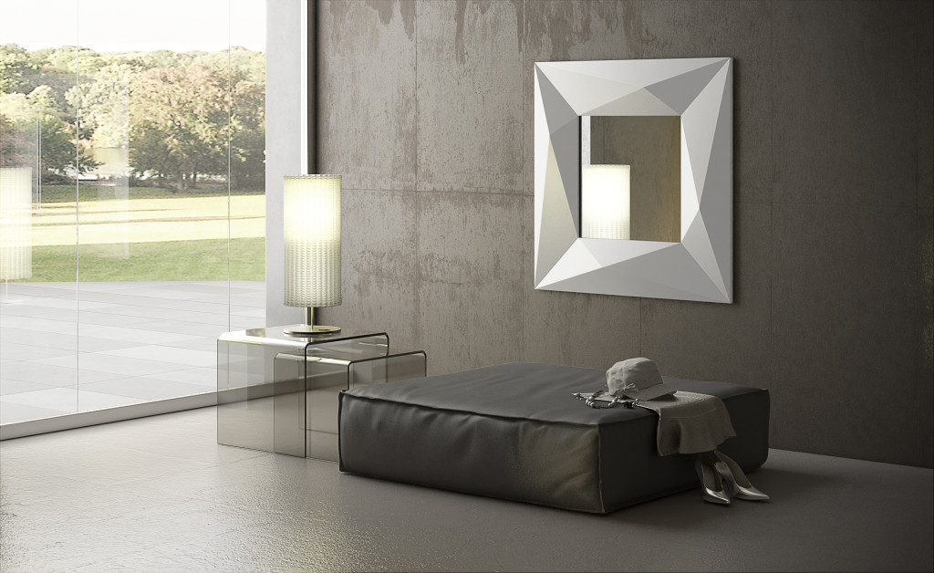 specchio diamond quadrato