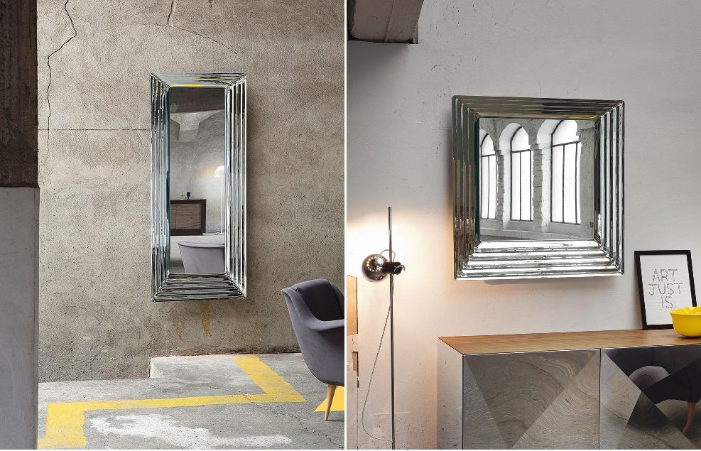 specchio queen riflessi rettangolare