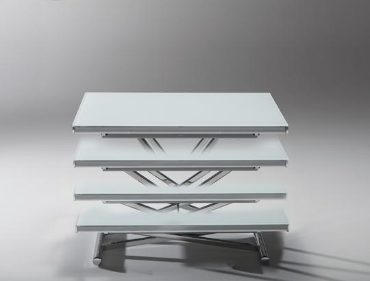 Genius Tavololino trasformabile in tavolo. un'idea di riflessi
