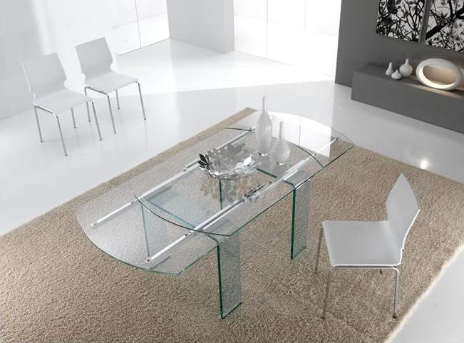 tavolo allungabile tutto in cristallo