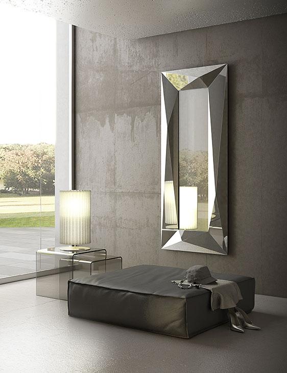specchio diamond riflessi acciaio