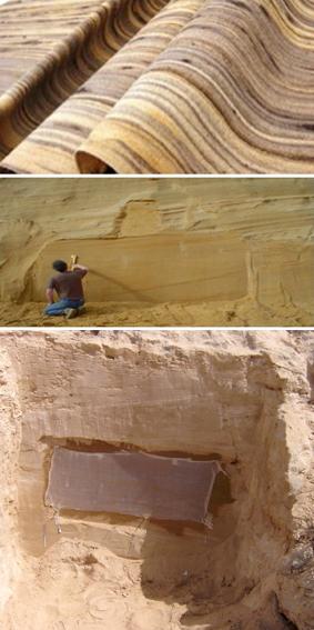 madia riflessi con rivestimento in pietra