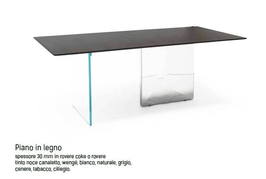 tavolo cubric riflessi piano in legno regolare