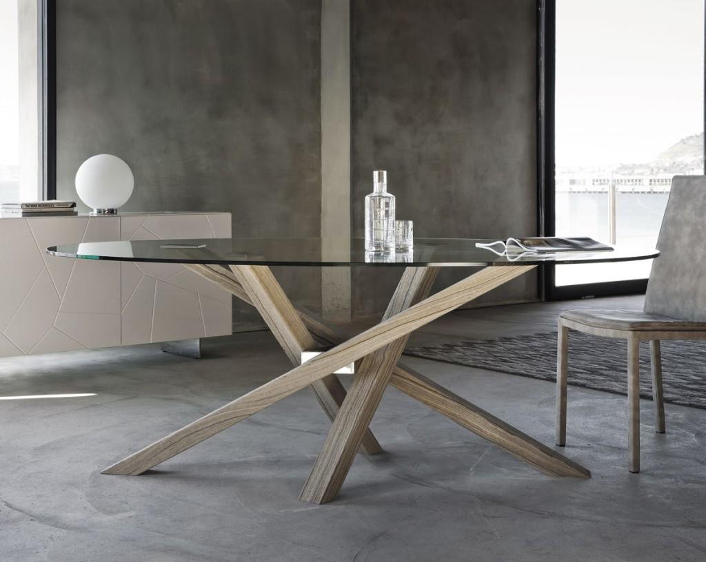 tavolo shangai riflessi gambe in legno