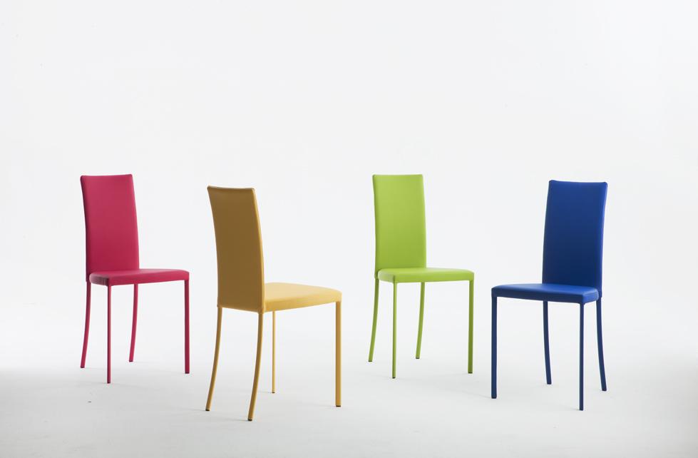 sedie riflessi ecopelle colorata
