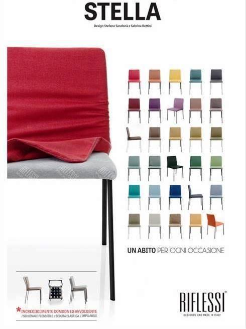 sedie riflessi sfoderabili e colorate