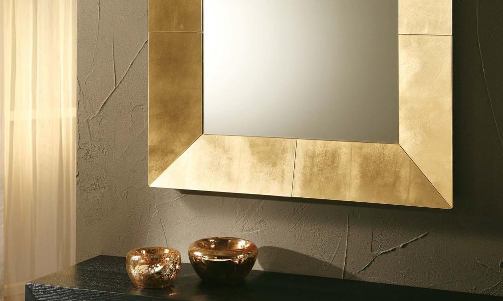 specchio royal riflessi foglia oro