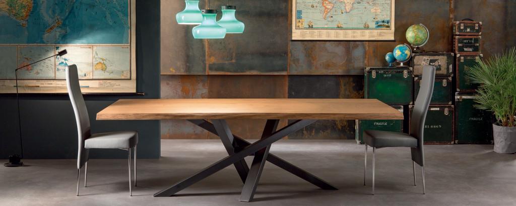 tavolo shangai riflessi con piano in legno