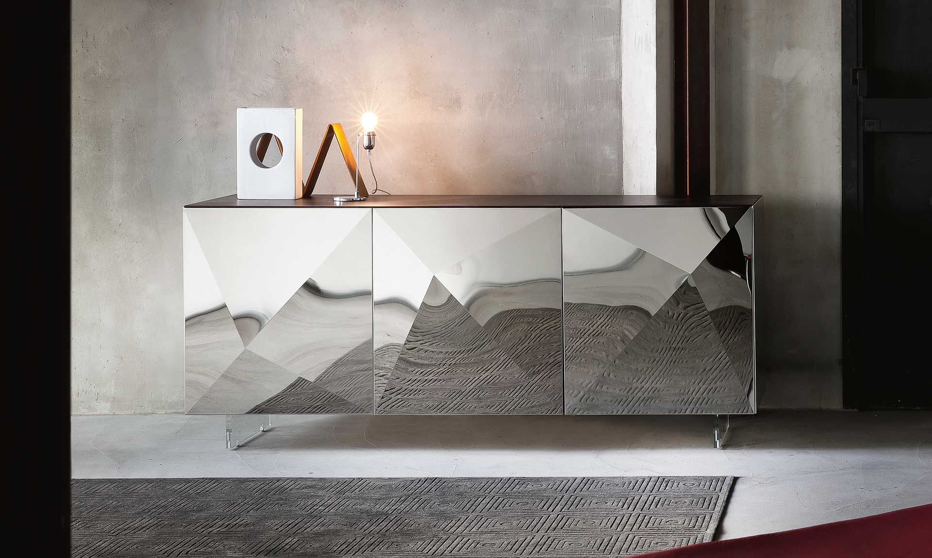 Consolle tavoli riflessi consolle allungabili tavoli for Madie di design