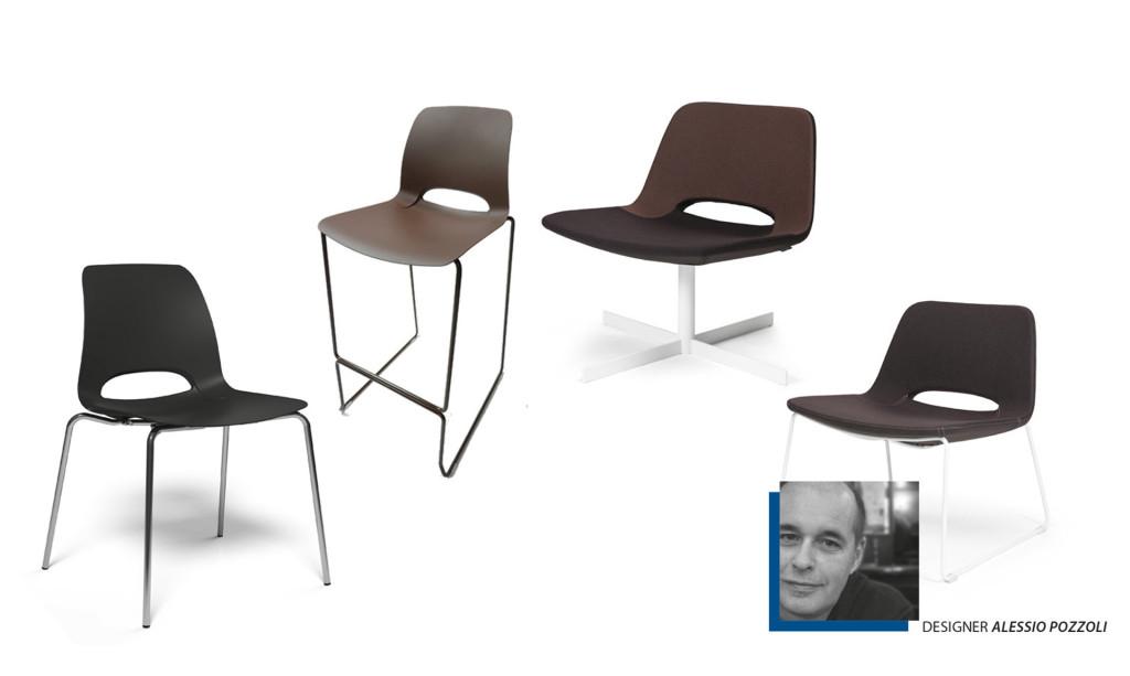 Katia Riflessi è sedia, sgabello e poltroncina.