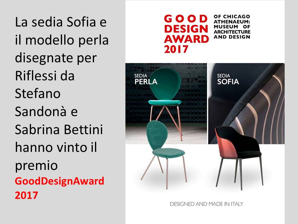 good design award 2017 Riflessi