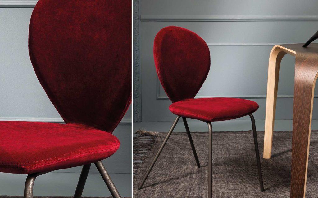 perla sedia riflessi colore rosso